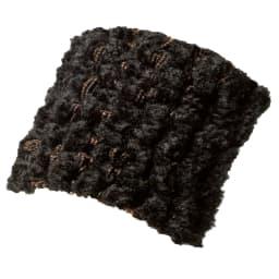 イタリア製フィットカバー〈ヴェルート〉 オットマンカバー (オ)ブラック