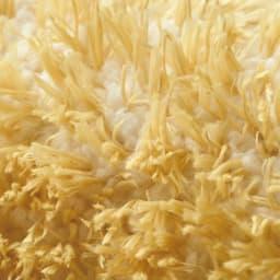 洗える防ダニラグ〈ロンボス〉 円形・オーバル ほわほわの短い毛足の糸(白糸)を織り込んでいるため、弾力があります。