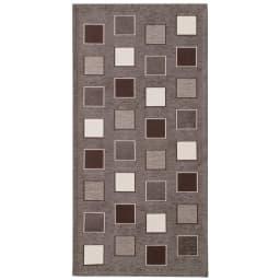 イタリア製シェニール織りキッチンマット (イ)ブラウン系(写真は約55×120cm)
