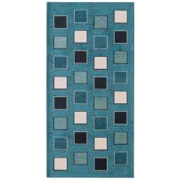 イタリア製シェニール織りキッチンマット (ア)ブルー系(写真は約55×120cm)