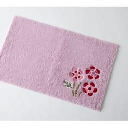 シビラ バスマット〈アエログラフォ〉(約45×70cm) (イ)ピンク系