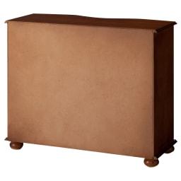 イタリア製象がんシリーズ ローキャビネット (裏面)背面にはほとんど塗装がありません。壁につけての使用をお勧めします。
