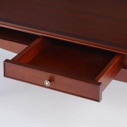 ベネチア調象がんシリーズ センターテーブル・幅110cm(引き出し付き) 引き出し内側にも塗装を施した丁寧な仕上がり。