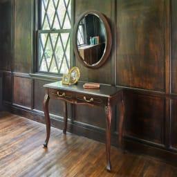 アンティーク調クラシック家具シリーズ コンソールデスク 玄関収納や寝室のサイドテーブルにもおすすめです。(イ)ダークブラウン