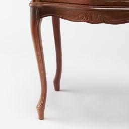 イタリア製 コンパクト収納家具シリーズ 猫脚サイドチェスト 2杯タイプ すっきりとした猫脚の脚部で、洗練された印象に。