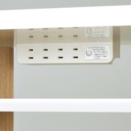 光沢が美しい 北欧風ナチュラルモダン リビング収納シリーズ  テレビ台 幅180cm フラップ扉内には4口コンセント付き。