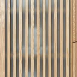 和モダン 格子 ダイニング シリーズ 家電収納庫 幅120奥行48cm 下扉は格子とミストガラスで、調理器具や食材ストックをすっきり目隠し。