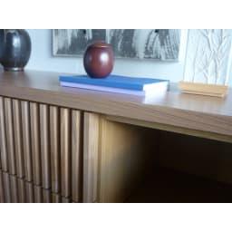 和モダン 格子 リビング収納 シリーズ リビングボード 和食器や陶器を飾ってもぴったり。