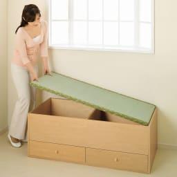 ユニット畳シリーズ 半畳 高さ31cm 畳単品での購入も可能。詳しくはシリーズ商品をご覧ください※写真は高さ45cmタイプの1畳引き出し付きタイプ。