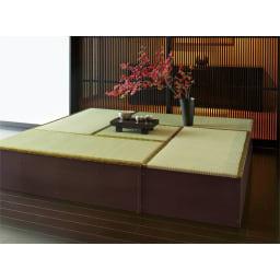 ユニット畳シリーズ 半畳 高さ31cm 中央に半畳と1畳×4を組み合わせた例。お得なセット販売もあります。