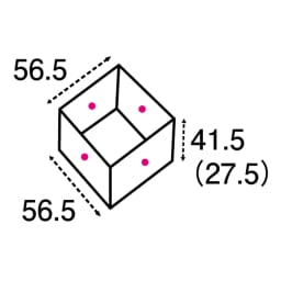 ユニット畳シリーズ 半畳 高さ31cm 矢印は有効内寸になります。( )内の数字は高さ31cmタイプになります。