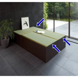 ユニット畳シリーズ 1畳 高さ45cm ※写真はお得な価格の3畳セット【1畳×3】