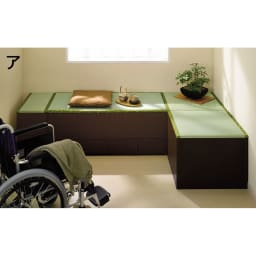 ユニット畳シリーズ 1畳 高さ45cm お部屋にくつろぎの畳コーナーを。高さ45cm、座りやすい高さにこだわりました。