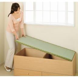 ユニット畳シリーズ 1畳引出し付き 高さ45cm 畳単品での購入も可能。詳しくはシリーズ商品をご覧ください