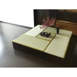 ユニット畳シリーズ お得なセット 4.5畳セット 幅180奥行180cm 高さ31cm (ア)ダークブラウン