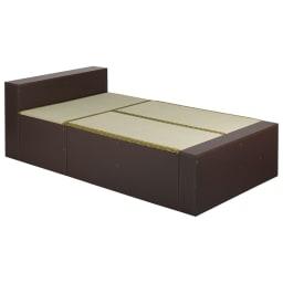 ユニット畳シリーズ ベッドセット 幅120奥行215cm 高さ45cm(本体高さ70cm) (ア)ダークブラウン