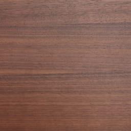 会話が弾む円形棚付きダイニングシリーズ 丸型棚付きテーブル 径110ウォルナット ウォルナット天然木の突板は木目が美しく整っています。