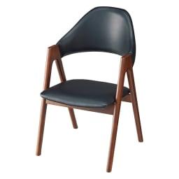 高さ自由自在 カフェスタイルダイニング 3点セット(昇降テーブル 径90ダークブラウン+ラウンジチェア×2) (イ)(座部)ブラック(脚部)ダークブラウン