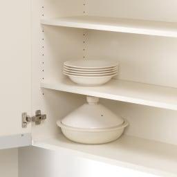 家電が使いやすいハイカウンター奥行50cm 食器棚高さ214cm幅80cm/パモウナCQ-800K