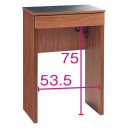 組み合わせ自由な大理石調天板キッチンカウンター ウォルナット 幅60cmカウンター 幅60 カウンター オープン部奥行内寸35.5cm
