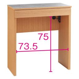 組み合わせ自由な大理石調天板キッチンカウンター オーク 幅80cmカウンター オープン部奥行内寸35.5cm
