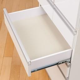 シンプルラインダイニングボードシリーズ 食器棚 幅59.5 高さ173.5cm 引き出しは内部化粧仕上げ。