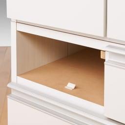 シンプルラインダイニングボードシリーズ 食器棚 幅59.5 高さ173.5cm 小引き出しにはストッパー付き。