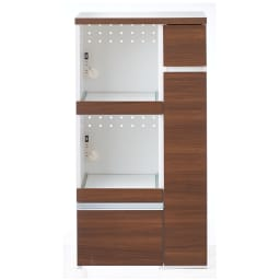 サイズが選べる家電収納キッチンカウンター ハイタイプ 幅60cm (ウ)ダークブラウン ※お届けは【ハイタイプ 幅60cm】です。