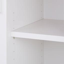 サイズが選べる家電収納キッチンカウンター ハイタイプ 幅120cm 収納棚は3cm間隔で高さ調節可能。