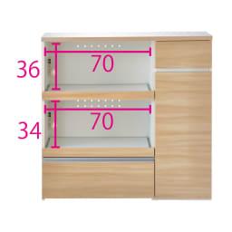 サイズが選べる家電収納キッチンカウンター ハイタイプ 幅120cm (イ)ナチュラル ※お届けは【ハイタイプ 幅120cm】です。