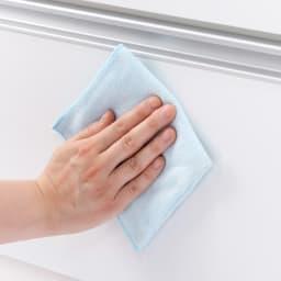 大型レンジが置ける家電収納庫 レンジキッチンカウンター・幅60cm 前面は拭き掃除がしやすい素材です。