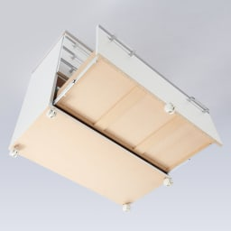 収納しやすいステンレストップカウンター 引き出しタイプ幅118cm