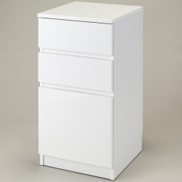 組立不要!幅1cm単位で124サイズから選べるすき間収納庫 ロータイプ 幅31~45cm・奥行45cm (ア)ホワイト