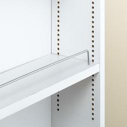 リバーシブル キッチンすき間収納ワゴン 奥行44cmタイプ 幅18cm 可動棚板は1cmピッチで調節可能。