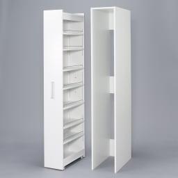 ボックス付きリバーシブル すき間収納庫 幅15奥行58cm ホコリや水ハネをボックスと、本体は分割された仕様になっています。