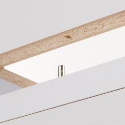 水ハネに強いポリエステル仕様 キッチンすき間収納庫 奥行55cm・幅15cm ハイタイプ 上段棚部と下段引出部はジョイントピンでしっかりと固定。
