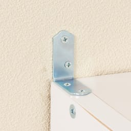 水ハネに強いポリエステル仕様 キッチンすき間収納庫 奥行55cm・幅30cm ハイタイプ 壁面に置く際は固定金具でしっかり固定。転倒を防止します。