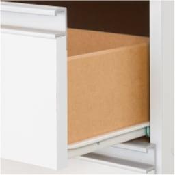 薄型で省スペースキッチン突っ張り収納庫 チェストタイプ 幅60cm・奥行31cm 全段ストッパー付きスライドレールで開閉スムーズ。