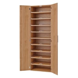 食器が探しやすく取り出しやすい食器棚 幅60cm (イ)ナチュラル
