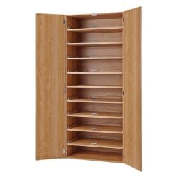食器が探しやすく取り出しやすい食器棚 幅75cm (イ)ナチュラル