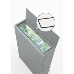 キッチン奥にも置ける 奥行スリムダストボックス 大 幅50cm・奥行18cm・高さ75.5cm 持ち手なしのゴミ袋も固定できるフレーム付き。
