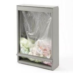キッチン奥にも置ける 奥行スリムダストボックス 大 幅50cm・奥行18cm・高さ75.5cm 背面はゴミ袋の飛び出しを防ぐ仕様。ダストボックス容量目安は45リットルです。