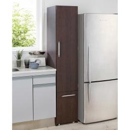 組立不要 キッチン分別タワーダストボックス 4分別 ゴミ箱タイプ (イ)ダークブラウン ※写真は5分別タイプです。