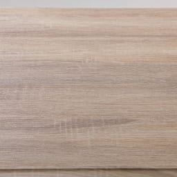 天井が低くても置けるカフェスタイルランドリーラック 棚1段バスケット2個 高さ167~217cm 棚板はリアルな木目調の化粧板。汚れが拭き取りやすい素材です。