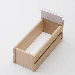 アクリル扉すき間収納庫 奥行29.5・幅15cm 引出し底面化粧仕上げで汚れも拭き取れます。