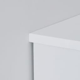 光沢仕上げ内部化粧チェスト 幅55・奥行30cm 天板を少し長めにし、壁にぴったり設置可能。