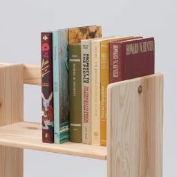 国産杉の収納ラックシリーズ テキスト収納ラック(奥行25cm) 奥行き25cmは教科書や辞書がしっかり収納できます。