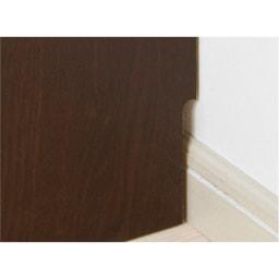 1cmピッチ 薄型窓下収納ラック 幅78cm 幅木をよけて壁にぴったりと設置できます。