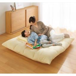 マルチリクライニング コンパクトソファ(座椅子) スタンダードタイプ フルフラットにすればお昼寝も快適。 ※写真はハイバックタイプです。