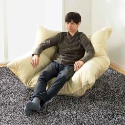 マルチリクライニング コンパクトソファ(座椅子) ハイバックタイプ スタンダードタイプ  ※モデル身長:178cm